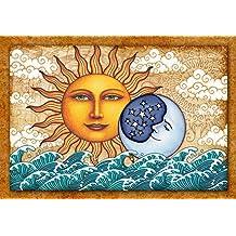 Sun Moon Diamond Tapestry Wall Hanging by Dan Morris