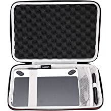 Navitech Black Hard Protective EVA Case Cover Compatible with The HUION Graphics Tablet HS64