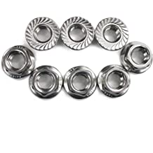 Pack of 20 a16033100ux0388 1//4x 20 304 Stainless Steel Serrated Hexagonal Flange Safety Nuts