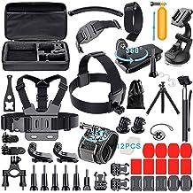 Xixihaha Action Camera Accessories Kit for GoPro Hero 7//6//5//4//3 Session Hero Session Hero 5 Black Hero 4 Silver Black Fit XIAOMI YI SJ4000 5000 6000 7000 AKASO EK7000 DBPOWER APEMAN and More
