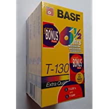 BASF Long Length Bonus Pack Extra Quality VHS Tapes 10 Pack 8-count 6-1//2 Hour T-130 and 2-count 8 Hour T160