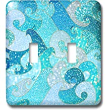 3dRose lsp/_272862/_1 Multicolor Trend Blue Luxury Elegant Mermaid Scales Glitter Toggle Switch Mixed