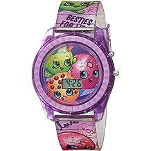 new concept 98d79 f3310 Shopkins Girls  39  Quartz Watch with Plastic Strap, Purple, 17 (Model