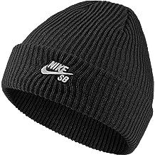 181f4c19 NIKE Mens SB Fisherman Black/White Beanie Hat 628684-011, One Size