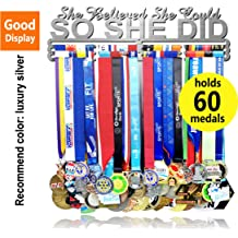 Medal Hanger Holder Display Rack for 40 Medals Application for All Sports Stainless Steel Medal Hanger Holder Race Medal Display Holder,Hanger for Medals,Bonus1PC CLEAN MEDALS FABRIC Included LUXURY Red