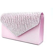67092b7ad4 Nodykka Women Evening Envelope Handbag Party Bridal Clutch Purse Shoulder  Cross Body Bag