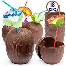 Forum Novelties Hawaiian Luau Party Tiki Bar Coconut Cup
