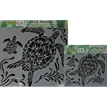 Standard Brilliant Blue Color Material Sea Turtle Stencil-XS 11 x 10.75