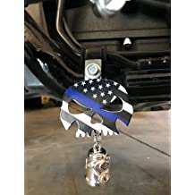 MADE IN THE USA! Fits all Harley Davidson Motorcycles /& More Bolt and Ring Included Kustom Cycle Parts Universal Red Line American Flag Punisher Skull Bell Hanger No Bell