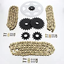 Cycle ATV Chain /& Sprocket 13//36 76L fits Polaris Scrambler 400 500 Xplorer 400 2x4 4x4