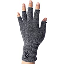 78a5bbb15f Vital Salveo - Stretchy Unisex Half Finger Texting Circulation Fingerless  Recovery .