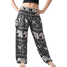 81a4b8948e Bangkokpants Women's Harem Pants Bohemian Clothes Boho Yoga Hippie Pants  Smocked Waist