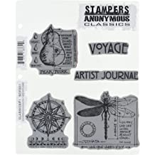 Stampers Anonymous 486967 Tim Holtz Mounted Red Rubber Stamp 2.5X5 Butterflies /& Moths 1