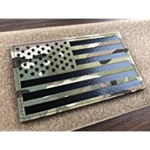 1 Pack 2x3.5 Multicam GIII Infrared IR US USA American Flag Patch Tactical Vest Patch Hook-Fastener Backing