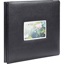 Pioneer Photo Albums MB10CBF-DB 12 x 12 Fabric Frame Scrapbook Deep Black
