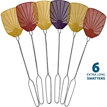 Cypressshop Assorted Color Fly Swatter Set Heavy Duty Striking Area 4x4 inch Killer Catcher Weapons of Bugs War Durable Light Weight Very Flexible Vary Color Set of 3 Pieces