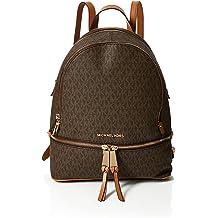 Soft PU Travel Bag Color : Black Black Xinqing Backpack 34 14 32CM Boutique Brown Womens Double Zip Large Capacity Backpack Detachable Shoulder Strap