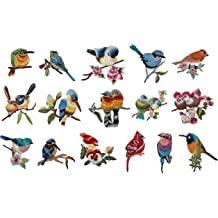 Toonol 1 Pair 3D Paillette Sequin Embroidery Birds Patch Applique Sew On Clothes Shirt Docarate Accessory Patchwork DIY