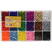 24 Colors, 3MM-14400PCS 3mm Pony Bead,ForTomorrow 24 Assorted Colors Beading Glass Beads,Approx 14400pcs Tube Beads for Bracelets Kits with Container Box for DIY Jewelry Making