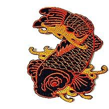 Japanese Koi Fancy Carp Fish  Patch Iron on Sewing Tattoo Goldfish Animal Badge