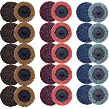 COSPOF 2 Inch Quick Change Zirconia Flap Disc 10 Pack Roloc Disc Pad Holder Assembly 1 Pack,Work with Air and Electric Sander for Conditioning and Sanding.