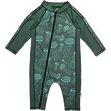 e68bb39efb HUANQIUE Baby/Toddler Boy Swimsuit Long Sleeve One-Piece Swimwear Rashguard.  KWD 8. SwimZip Little Boy Long Sleeve Sunsuit with UPF 50 Sun Protection