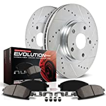 2005 Buick Terraza Chevy Uplander Pontiac Montana AWD Max Brakes Front /& Rear Performance Brake Kit Premium Slotted Drilled Rotors + Ceramic Pads KT067633 Fits