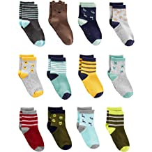 FQIAO Cute Thick And Warm Autumn and Winter Unisex Baby Socks with Small Cute Ball Soft Stretchable 3 Pack Gift for Newborn And Baby-XS 1-6 Months
