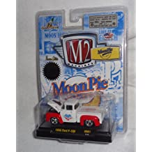 MoonPie Series M2 Machines Auto-Thentics 2013 Castline Premium Edition 1:64 Scale Die-Cast Vehicle White /& Brown MN01 13-10 1956 Ford F-100