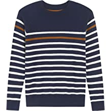 98edf43ab Adory Sweety Tops Sweater for Kids Baby Boy Toddler Soft &Cute Crew  Neck Stripe