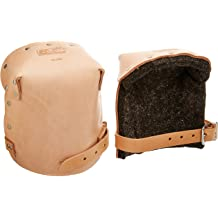Double Felt Padded Leather Knee Pads w//1 Leather Strap Made in USA TA309X-1