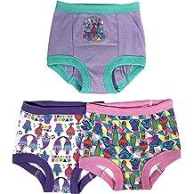 Goodkids Little Big Girls Cotton Four-Pack Of Lace Brief Assorted Underwear Lace Underwear Panties