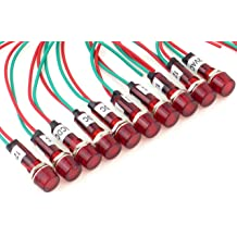 2 Green 110//120V Shopcorp 20mA 22mm Energy Saving 2 Yellow and 2 Red Bulbs for Industrial Equipment and Mount Panels in Operating Rooms and Distribution Boxes Industrial LED Indicator Lights