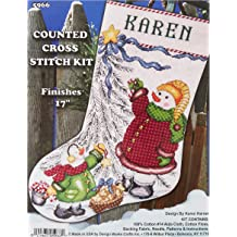 10 by 10-Inch Wright Products Tobin DW2789 Heartfelt be Joyful Counted Cross Stitch Kit 14 Count