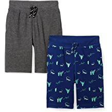 4157a8ad3 Amazon Brand - Spotted Zebra Boys  39  2-Pack French Terry Knit Shorts