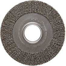 0.43//120CG Crimped Fill Weiler 86142 Burr-Rx Shell-Mill Holder Disc Brush 8